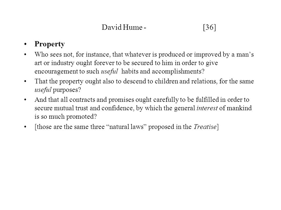 David Hume - [36] Property